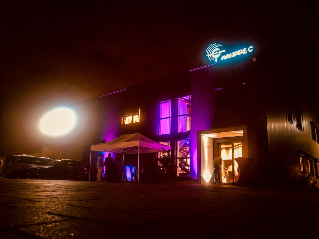 Außenbeleuchtung bei Nacht vom Studio Duisburg